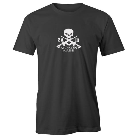 2A Molon Labe Three Percenter Adult Short Sleeve Cotton T-Shirt