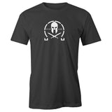 Spartan Crossed Swords Short Sleeve 100% Cotton Men's T-Shirt