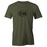5.56 Assault Rifle AR15 Ammo Adult Short Sleeve 100% Cotton T-Shirt