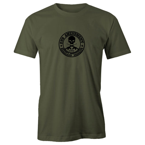 2nd Amendment Homeland Security Adult Short Sleeve Cotton T-Shirt