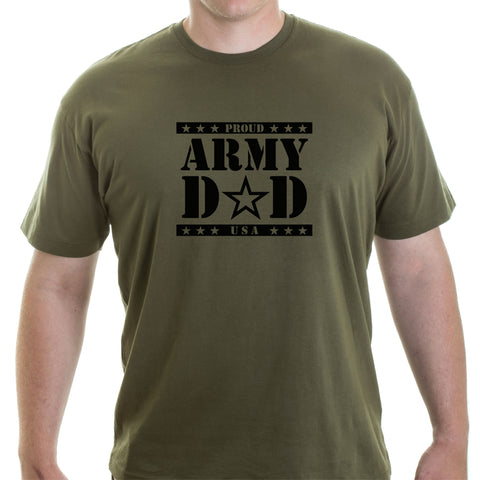 Army Dad Adult Short Sleeve 100% Cotton Men's T-Shirt