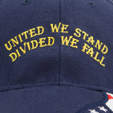 Embroidered Baseball Cap USA Israeli Flags United We Stand Divided we Fall Hat