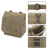 K9 Handler Heavyweight Cotton Canvas Crossbody Travel Map Bag Case