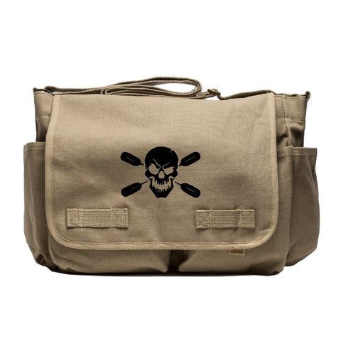 Deadly Kayaker Paddle Army Heavyweight Canvas Messenger Shoulder Bag