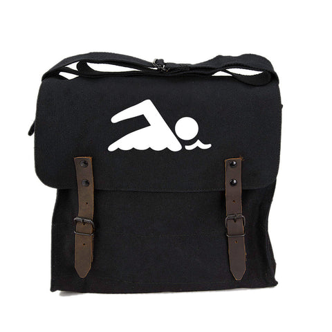 Swimming Swimmer Army Heavyweight Canvas Medic Shoulder Bag