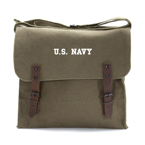 US NAVY Text Army Heavyweight Canvas Medic Shoulder Bag