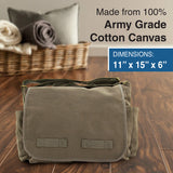 Israeli Air Force Army Heavyweight Cotton Canvas Messenger Shoulder Bag