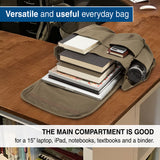 Come And Get It Army Heavyweight Canvas Messenger Shoulder Bag