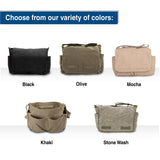 Security Text Army Heavyweight Canvas Messenger Shoulder Bag