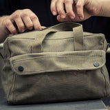 Canvas Mechanics Tool Bag W/ Brass Zipper, with FREE Paracord Survival Tool