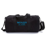 Vintage Sport Travel Army Heavyweight Canvas Duffel Shoulder Bag Molon Labe