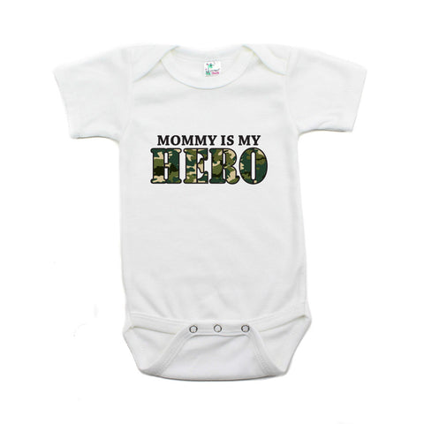Mommy Is My Hero Short Sleeve Baby Bodysuit