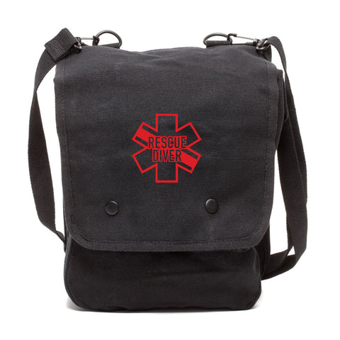 Star of Life Shaped RESCUE DIVER Canvas Travel Map Bag Case
