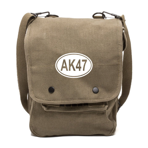AK47 Canvas Crossbody Travel Map Bag Case