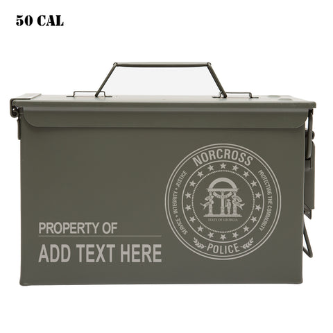 Norcross Police Department Personalized Engraved Ammo Can Waterproof Storage Box