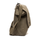 Army Force Gear Air Soft Canvas Crossbody Travel Map Bag Case with Hard Back