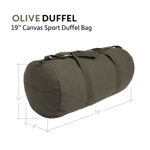 Large Prepper Supplies Army Sport Heavyweight Duffel Bag Olive /& White
