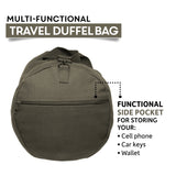 Grizzly Bear Paw Print Army Sport Heavyweight Canvas Duffel Bag