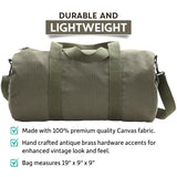 OCS Letters Officer Branch of Service Heavyweight Canvas Duffel Bag