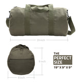 Army Text Military Sport Heavyweight Canvas Duffel Bag