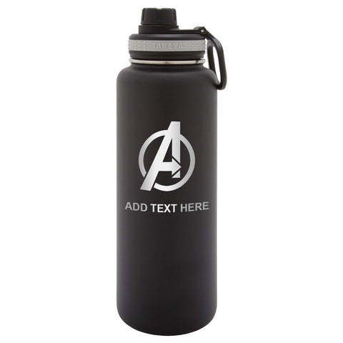 Personalized Engraved Avengers Logo Engraved Thermo Flask Water Bottle Stainless Steel Tumbler