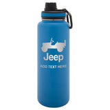 Personalized Engraved Jeep CJ Thermo Flask Water Bottle Stainless Steel Sports Water Tumbler