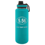 Personalized Engraved 5.56 Assault Rifle Ar15 Ammo Thermo Flask Water Bottle Stainless Tumbler