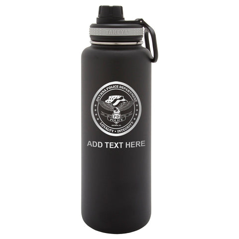 Personalized Engraved Smyrna Police Department Thermo Flask Water Bottle
