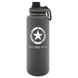 Personalized Engraved WW2 Jeep Star Stainless Steel Thermoflask Water Bottle