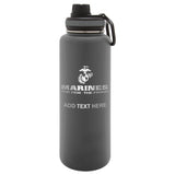 Personalized Engraved Marines the Few and the Proud Thermo Flask Water Bottle Stainless Steel