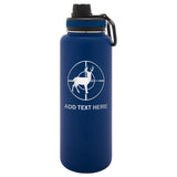 Personalized Engraved Deer on Scope Thermo Flask Water Bottle Stainless Steel Sports Tumbler
