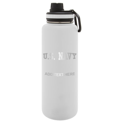 Personalized Engraved US NAVY Thermo Flask Water Bottle Stainless Steel Sports Water Tumbler