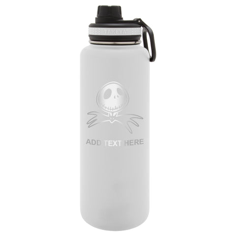Personalized Engraved Nightmare Before Christmas Bat Thermo Flask Water Bottle Stainless Steel