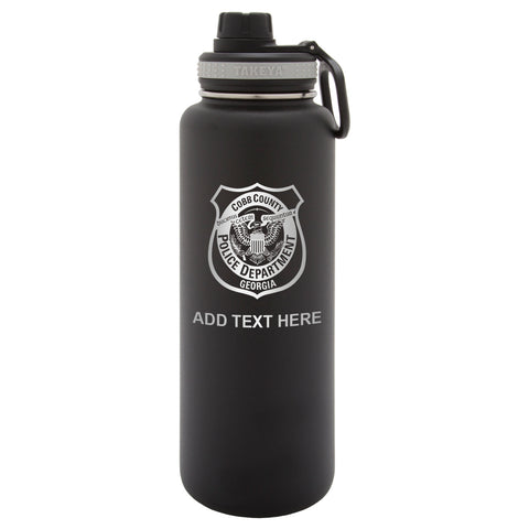 Personalized Engraved Cobb County Police Department Thermo Flask Water Bottle