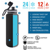 Personalized Engraved Made In the USA Thermo Flask Water Bottle Stainless Steel Sports Tumbler