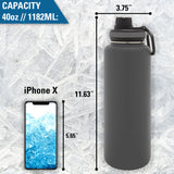 Personalized Engraved Snowboarder Thermo Flask Water Bottle Stainless Steel Sports Tumbler