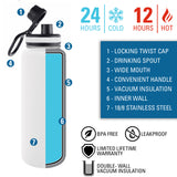 Personalized Engraved Us Navy Seal Pin Thermo Flask Water Bottle Stainless Steel Tumbler