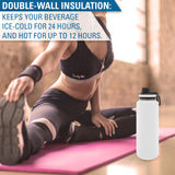 Personalized Engraved Thermo Flask Water Bottle Stainless Steel Sports Tumbler