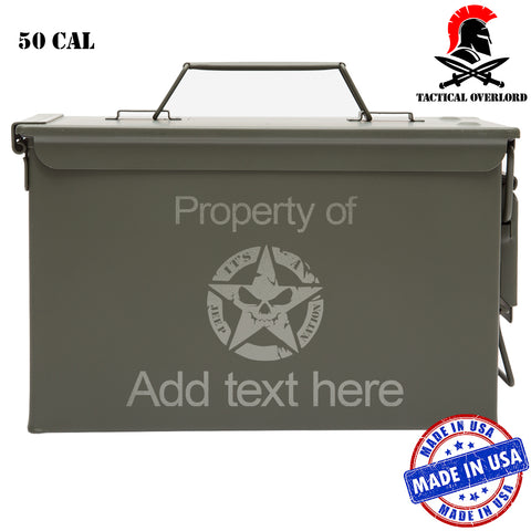 Personalized Jeep Nation Laser Engraved – Indoor Outdoor Military Army Survival Box Ammo Can