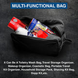 Fly Fishing Lure Hook Canvas Shower Kit Travel Toiletry Bag Case