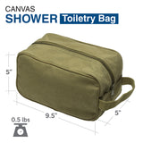 Army Force Gear Blood Type O+ Pos Canvas Shower Kit Travel Toiletry Bag Case