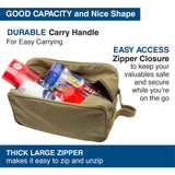 Prepper Supplies Canvas Shower Kit Travel Toiletry Bag Case