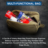 Military 5.56 Assault Rifle AR15 Ammo Canvas Shower Kit Travel Toiletry Bag Case