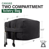 Go Topless Jeep Offroad Canvas Shaving Shower Kit Dual Compartment Toiletry Bag