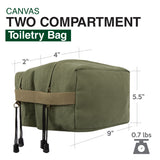 Willys Jeep Freedom Stars Military Canvas Dual Compartment Travel Toiletry Bag