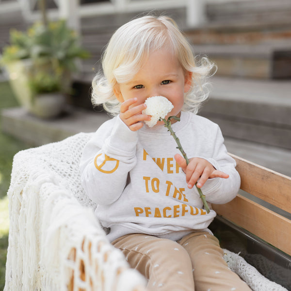 Kids Power To The Peaceful Sweatshirt
