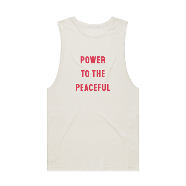 Power To The Peaceful Muscle Tee