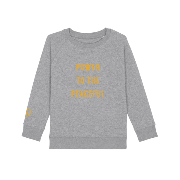 Kids Power To The Peaceful Sweatshirt - Heather Grey