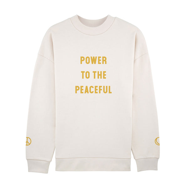 Power To The Peaceful Long Sweatshirt