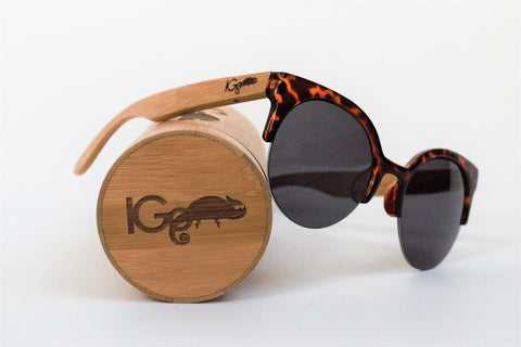 Gato - Tortoise Rimless Retro Cat Eye Sunglasses.